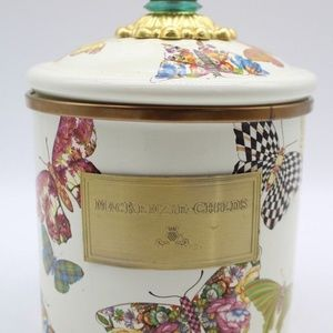 mackenzie childs small butterfly enamel canister